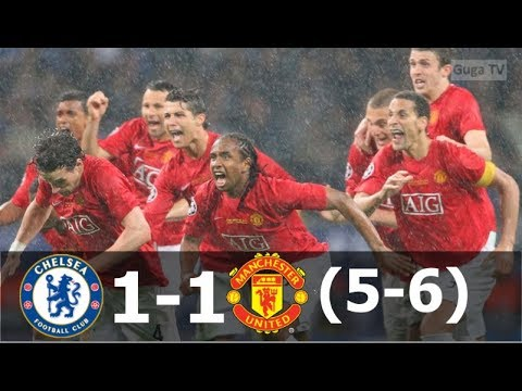 Manchester United vs Chelsea 1-1 (pen 6-5) – UCL Final 2008 – Highlights (English Commentary)