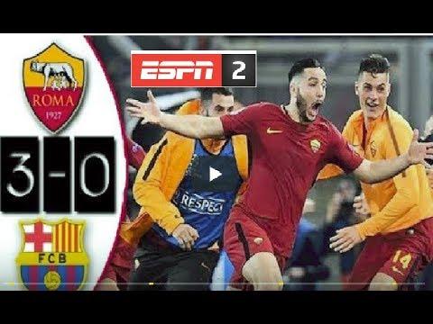 Roma 3 VS Barcelona 0 ( ELIMINACIÓN HISTÓRICA )Goles/4tos Champions league 2018