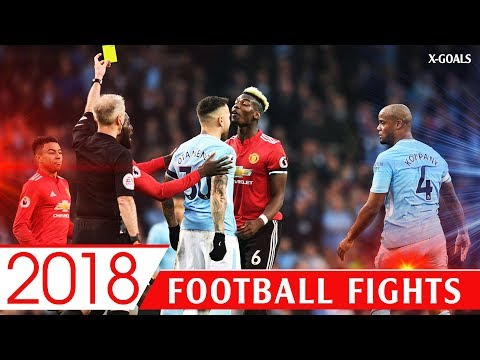 ⚽ BEST FOOTBALL FIG-HTS 2018 • FOULS • RED CARDS • ANGRY MOMENTS