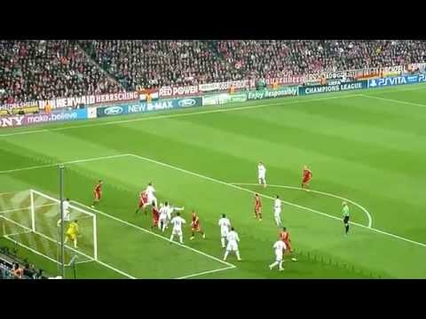 Bayern vs. Real – 17.04.2012 – Allianz Arena – Tor zum 1 : 0 durch Franck Ribéry – LIVE !!!