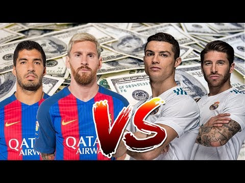 Real Madrid vs Barcelona ● Player Salaries 2017/18