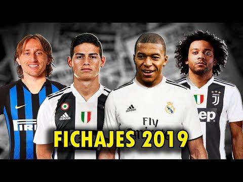 FICHAJES 2019 | MBAPPE, JAMES, MARCELO, ALBA, DIAZ |Real Madrid,Barca, Juventus, psg