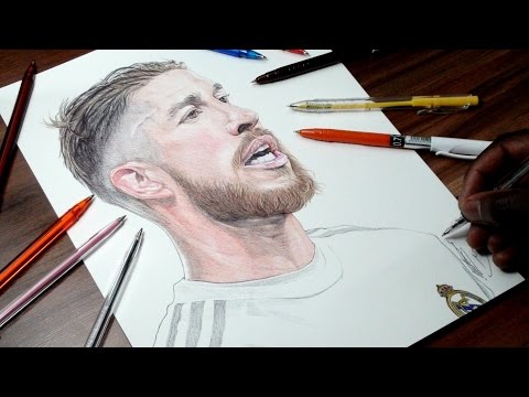 Ramos Pen Drawing – Real Madrid – DeMoose Art