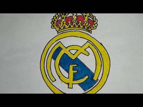 طريقة رسم شعار ريال مدريد / how to draw real Madrid logo