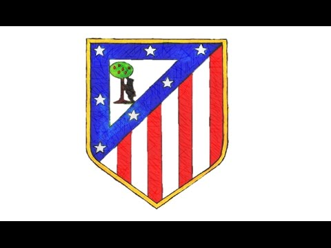 Como desenhar o escudo do Atlético de Madrid (CA) – How to Draw the Atlético Madrid Logo (CA)