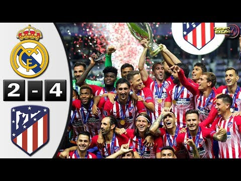 Real Madrid vs Atletico de Madrid 2-4 Resumen Highlights Final Supercopa de Europa 15/08/2018