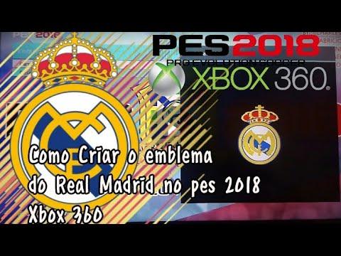 Como criar o emblema do Real Madrid pes 2018 (Xbox 360)