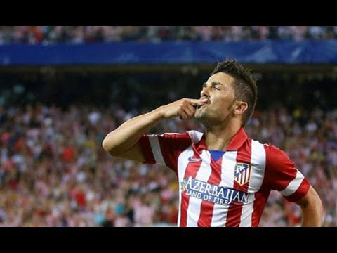 Goal David Villa – Atletico Madrid 1-0 Barcelona HD – Spanish Super Cup 21/8/2013