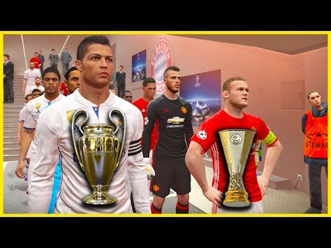 PES 2017 | REAL MADRID VS MANCHESTER UNITED (Com vs Com) UEFA Super Cup