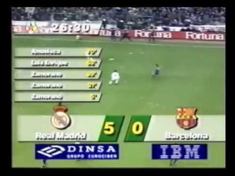 Real Madrid  5 – 0  Barcelona F.C. (07/01/1995)