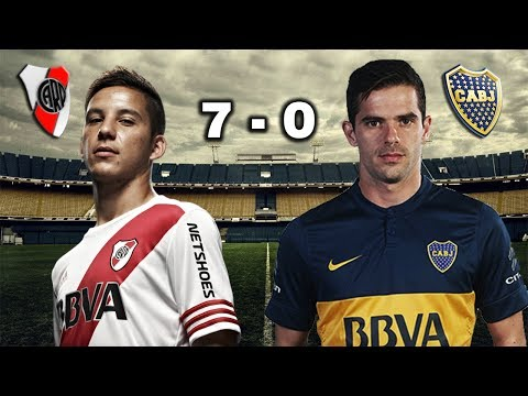 RIVER PLATE 7 – 0 BOCA JUNIORS – SUPERCLÁSICO – Parodia 2017 / Boca vs River
