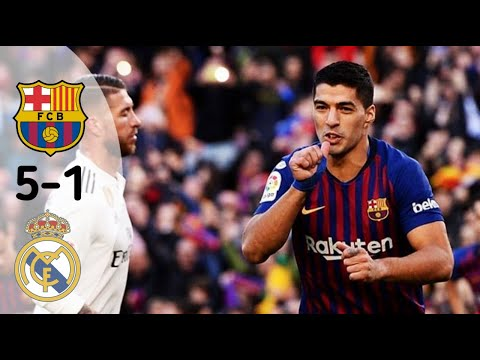 Barcelona vs Real Madrid 5-1 Highlights & Goals Full HD Suarez Hattrick