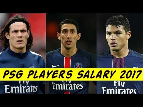 PSG Football Players Weekly Salary 2017.