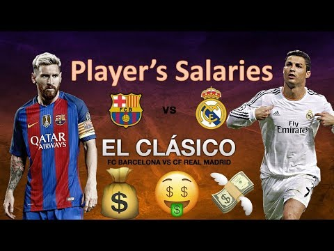 EL Clasico of Salaries : Real Madrid CF  VS FC Barcelona Player's Salaries.