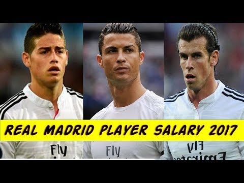 Real Madrid Players Weekly Salary 2017