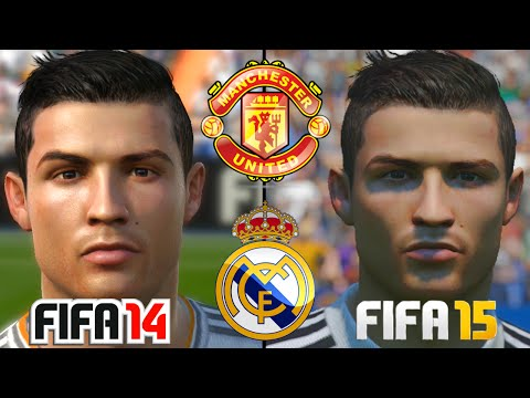 FIFA 15 vs FIFA 14 Spielergesichter : Real Madrid & Manchester United HD