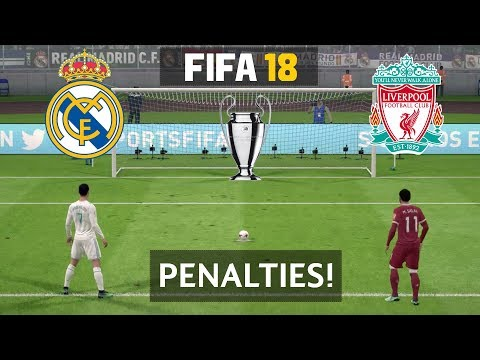 Real Madrid vs Liverpool Penalty Shootout FIFA 18 (PS4) | UEFA Champions League Final 2018