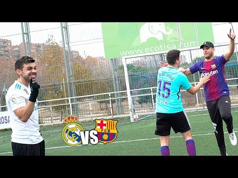 Real Madrid VS Barcelona – RobertPG & xBuyer VS DjMaRiiO & Toniemcee – RETOS DE FUTBOL