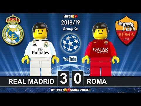 Real Madrid vs Roma 3-0 • Champions League 2019 (19/09/2018) • All Goals Highlights Lego Football