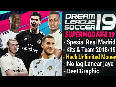 Download Dream League Soccer mod Real Madrid Player & Kits 2018/2019 | Fifa 19 Hack Unlimted Money