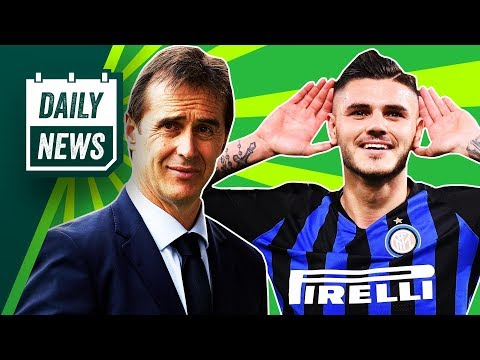 New Real Madrid coach REVEALED, Icardi to replace Ronaldo + Man United news ► Onefootball Daily News