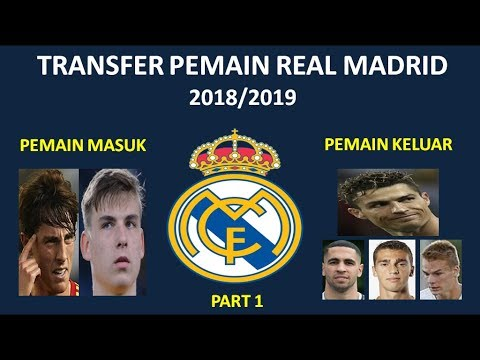 Transfer Pemain Real Madrid di Bursa Transfer musim kompetisi 2018/2019
