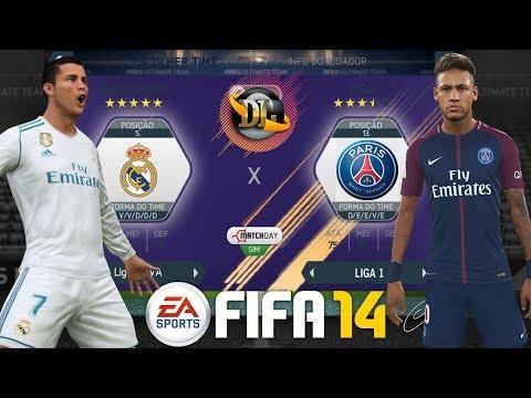 FIFA 14 ANDROID ATUALIZADO NARRAÇÃO DOWNLOAD 2018  REAL MADRID vs PSG AMISTOSO!
