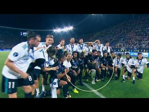 Real Madrid celebracion Supercopa vs Manchester United | 2017