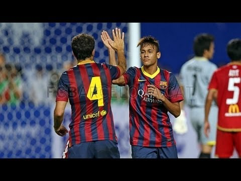Thailand vs Barcelona  (1-7) All Goals & Highlights 07.08.2013 Neymar first Goal for Barcelona