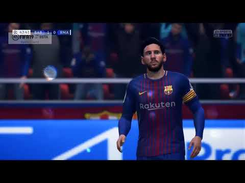 FIFA 19 FC BARCELONA VS REAL MADRID CF UEFA CHAMPIONS LEAGUE FINAL (BETA)😍😍