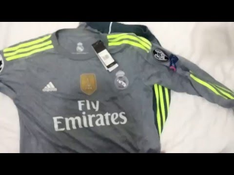 Real Madrid Away 2015 Adidas T-shirt Unboxing & Review [Full HD]
