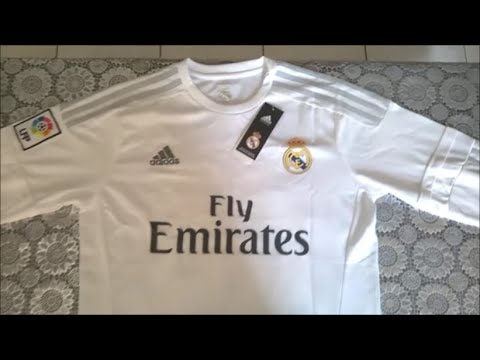 Real Madrid 2015/16 Home kit Unboxing