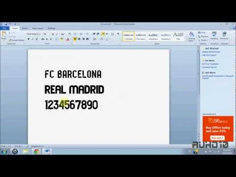Download FC Barcelona & Real Madrid 12/13 Fonts