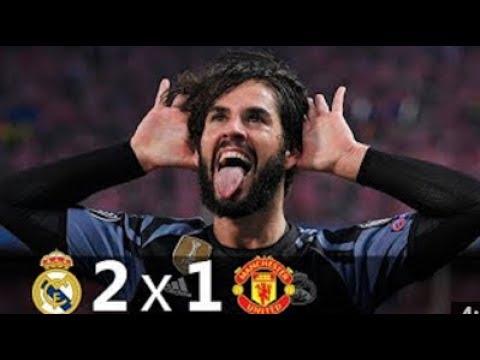 Espn | Real Madrid 2 – 1 Manchester United | Fernando Palomo goles de isco y casemiro | lukaku