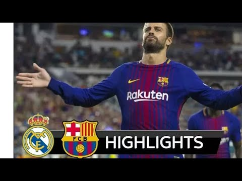 FC BARCELONA VS REAL MADRID 3-2 GOALS AND HIGHLIGHTS ENGLISH COMMENTARY MIAMI ICC 30/07/2017