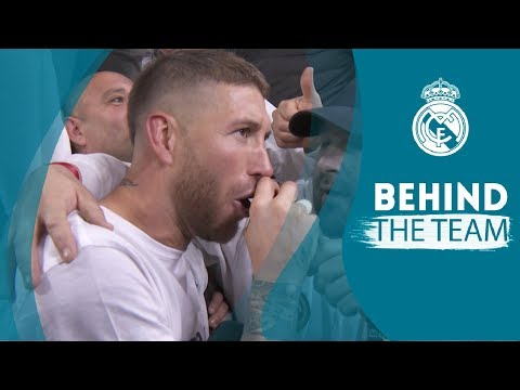 SERGIO RAMOS singing and TEAM CELEBRATION | Real Madrid 2 – 2 Bayern Munich
