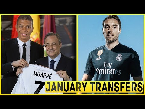 Top 5 Players REAL MADRID Need To Sign In January Transfer Window 2018 ft Mbappe Hazard Eriksen