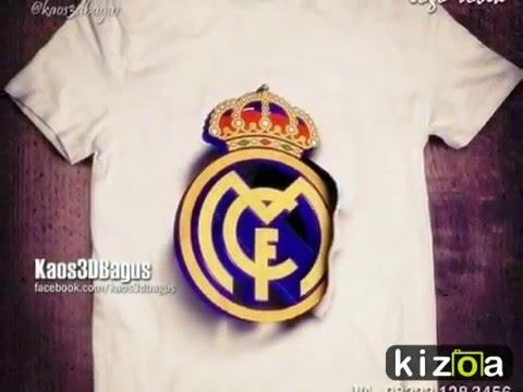 REAL MADRID Kaos 3D Jersey & Logo – Kaos RONALDO 3D