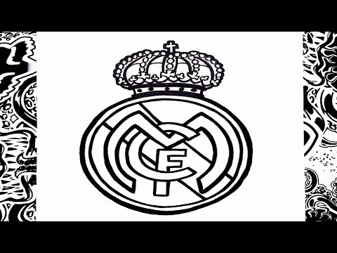 Como dibujar el escudo del real Madrid paso a paso | how to draw real madrid