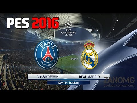 PES 16 | Real Madrid vs PSG | UEFA Champions League | Full Match Gameplay | PS4/XBOX ONE | HD
