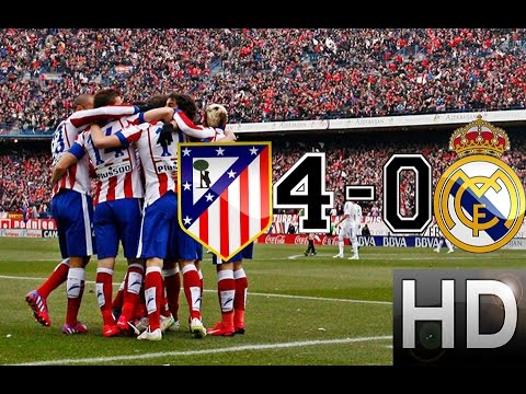 Atletico Madrid vs Real Madrid 4-0 All Goals and Highlights | 07-02-2015 HD