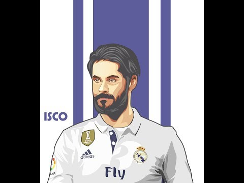 HOW TO TUTORIAL VECTOR ART IN COREL DRAW ISCO (REAL MADRID)