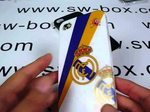 White Real Madrid Logo Designed  iPhone 4 Hard Case Cover