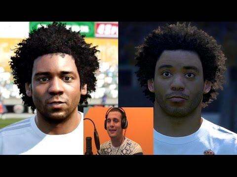 FIFA 16 vs PES 16 Real Madrid Players Faces ☆ SerbianGamesBL ☆
