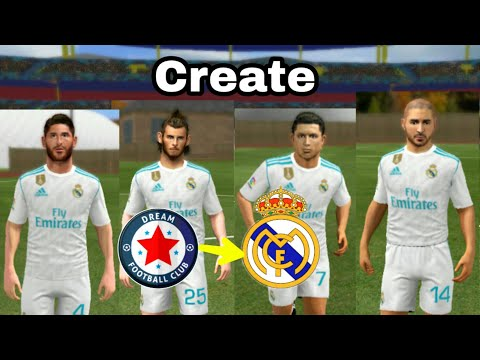 How To Create Real Madrid Team ★ Kit Logo & Players ★ Dream League Soccer 2018