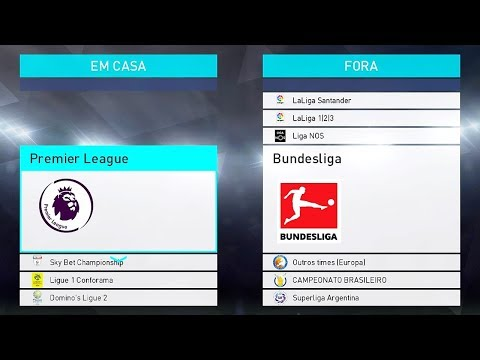 PES 2018 – OPTION FILE DOWNLOAD e TUTORIAL (Bundesliga, Premier League, Real Madrid e Brasileirão)