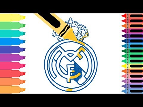 How to Draw Real Madrid Badge – Drawing the Real Badge – Coloring Pages for kids | Tanimated Toys