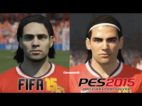 FIFA 15 vs PES 2015 MANCHESTER UNITED Face Comparison