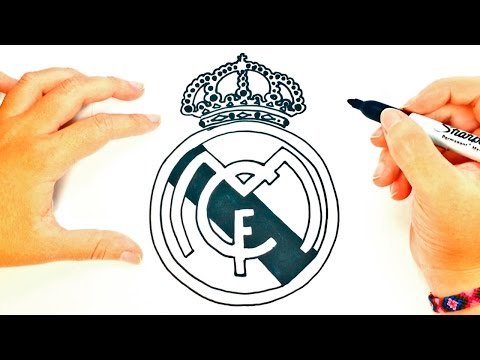 How to draw a Real Madrid Logo | Real Madrid Shield Draw Tutorial