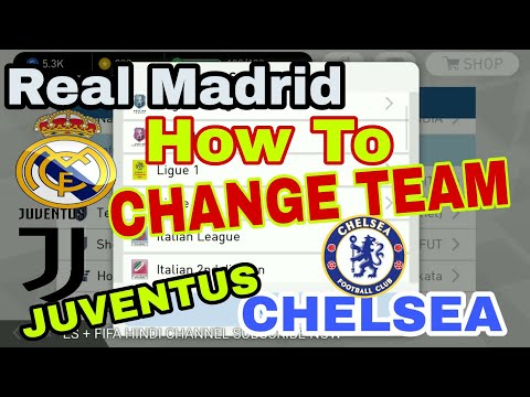 How To Change Teams In PES 2018 Mobile Real Madrid,Juventus,Chelsea Etc All Need To Know